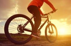 Cyclist riding a bike Stock Photo