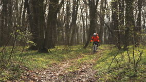 Cyclist riding the Bike stock footage