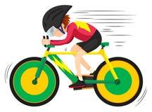 Cyclist riding on mountain bike Stock Image