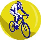Cyclist riding racing bike Stock Photo