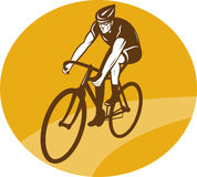 Cyclist riding racing bike Royalty Free Stock Photos
