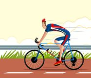 Cyclist riding Sports Cycle Stock Photography