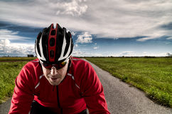 Cyclist on the road Stock Photos