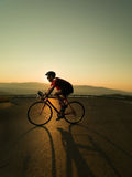 Cyclist on road bike Stock Photo