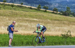 The Cyclist Robert Gesink. Chorges, France- July 17, 2013: The Dutch cyclist Robert Gesink  from Belkin Pro Cycling Team pedaling during the stage 17 of 100th Stock Image