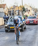 The Cyclist Robert Gesink- Paris Nice 2013 Prologue in Houilles Royalty Free Stock Photography