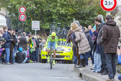 The Cyclist Robert Kiserlovski - Paris-Nice 2016 Royalty Free Stock Photo