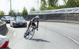 The Cyclist Romain Bardet - Tour de France 2015 stock photography