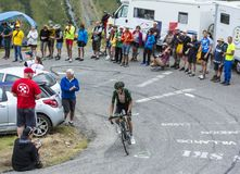 The Cyclist Romain Sicard - Tour de France 2015 Royalty Free Stock Images