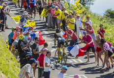 The Cyclist Romain Sicard - Tour de France 2016 Royalty Free Stock Photos