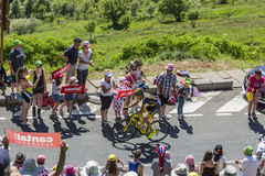 The Cyclist Romain Sicard - Tour de France 2016 Stock Images