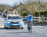 The Cyclist Roman Combaud - Paris-Nice 2016 Stock Images