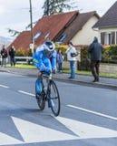The Cyclist Roman Combaud - Paris-Nice 2016 Stock Photography