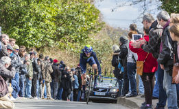 The Cyclist Ruben Fernandez Andujar - Paris-Nice 2016 Royalty Free Stock Photography