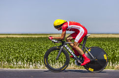 The Cyclist Rudy Molard. Ardevon,France-July 10, 2013: The French cyclist Rudy Molard from Team Cofidis cycling during the stage 11 of the edition 100 of Le Tour Stock Photos