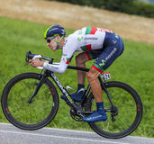 The Cyclist Rui Alberto Costa. Chorges, France- July 17, 2013: The Portuguese  cyclist Rui Alberto Costa  from Movistar Team pedaling during the stage 17 of Royalty Free Stock Photo
