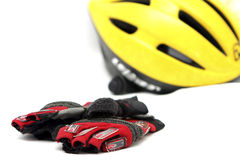 Cyclist safety equipment Royalty Free Stock Photo