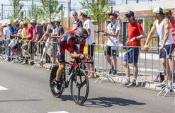 The Cyclist Samuel Sanchez - Tour de France 2015 Stock Images