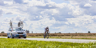 The Cyclist Sandy Casar Royalty Free Stock Images