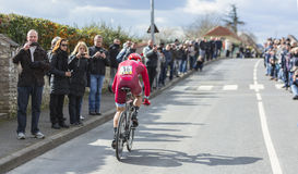 The Cyclist Sergey Lagutin - Paris-Nice 2016 Royalty Free Stock Photography