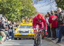 The Cyclist Sergey Lagutin - Paris-Nice 2016 Royalty Free Stock Photography