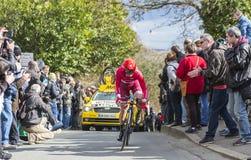 The Cyclist Sergey Lagutin - Paris-Nice 2016 Stock Images