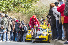 The Cyclist Sergey Lagutin - Paris-Nice 2016 Stock Photography
