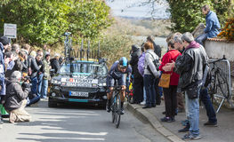 The Cyclist Sergio Luis Henao Montoya - Paris-Nice 2016 Stock Image