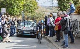 The Cyclist Sergio Luis Henao Montoya - Paris-Nice 2016 Stock Image