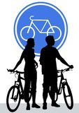 Cyclist sign Royalty Free Stock Photo
