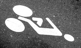 Cyclist sign Royalty Free Stock Image
