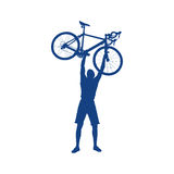 Cyclist silhouette Royalty Free Stock Photography