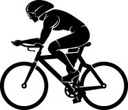 Cyclist Silhouette Royalty Free Stock Image