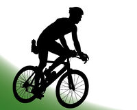 Cyclist Silhouette Vector Royalty Free Stock Photo