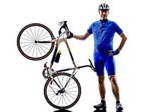 Cyclist silhouette Royalty Free Stock Images