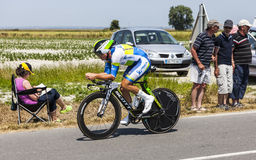 The Cyclist Simon Gerrans. Le Pont Landais,France-July 10, 2013: The Australian cyclist Simon Gerrans from Orica-GreenEDGE Team cycling during the stage 11 of Stock Photos