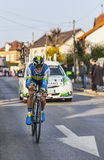 The Cyclist Simon Gerrans- Paris Nice 2013 Prologue in Houilles. Houilles, France- March 3rd 2013: The Australian cyclist Simon Gerrans from Orica Greenedge Team Stock Image