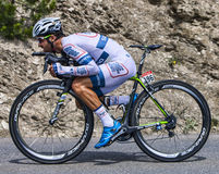 The Cyclist Simon Geschke Royalty Free Stock Images