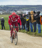 The Cyclist Simon Spilak - Paris-Nice 2016 Royalty Free Stock Photo