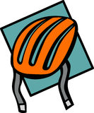 Cyclist or skater helmet vector illustration Stock Image