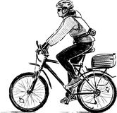 Cyclist sketch Stock Images