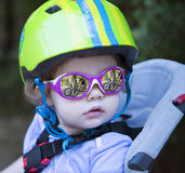 Cyclist small Royalty Free Stock Images