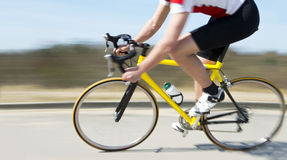 Cyclist at speed Royalty Free Stock Photo