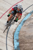 Cyclist Sprints During Time Trial At Atlanta Velodrome Stock Photos