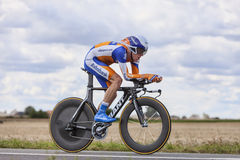 The Cyclist Steven Kruijswijk Stock Photo