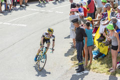 The Cyclist Steven Kruijswijk on Col du Glandon - Tour de France Royalty Free Stock Photos