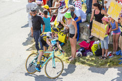 The Cyclist Steven Kruijswijk on Col du Glandon - Tour de France Royalty Free Stock Photo