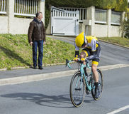 The Cyclist Steven Kruijswijk - Paris-Nice 2016 Royalty Free Stock Images
