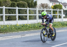 The Cyclist Steven Tronet - Paris-Nice 2016 Stock Photography
