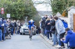 The Cyclist Stijn Vandenbergh - Paris-Nice 2016 Stock Photography